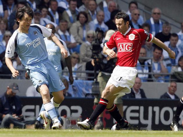 Manchester City's Chinese player Jihai S...