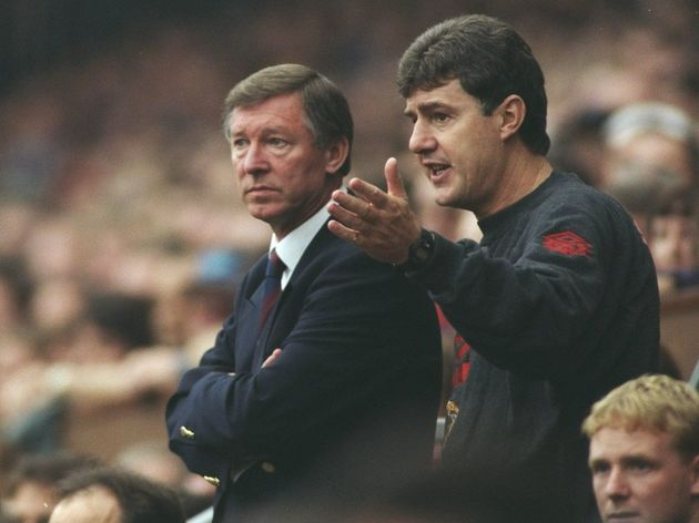 Manchester United Manager Alex Ferguson and coach Brian Kidd