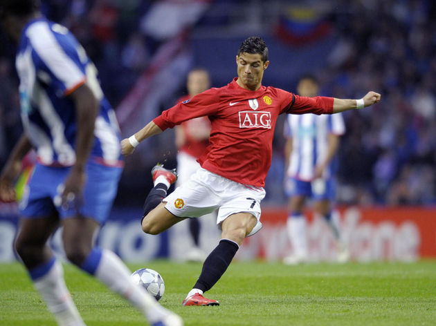 Manchester United's Portuguese player Cr