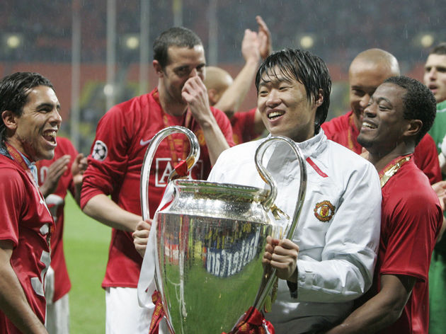 Manchester United's South Korean midfiel