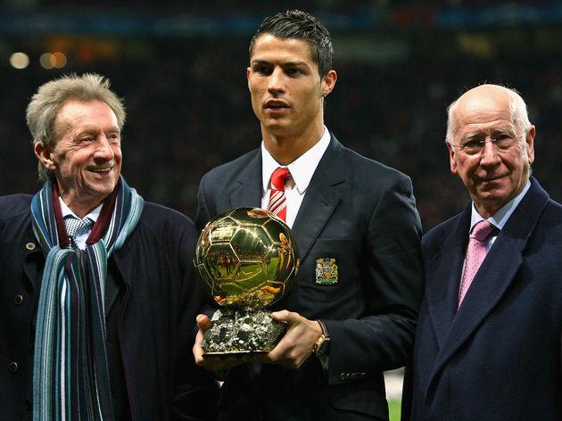 Cristiano Ronaldo,Denis Law,Bobby Charlton