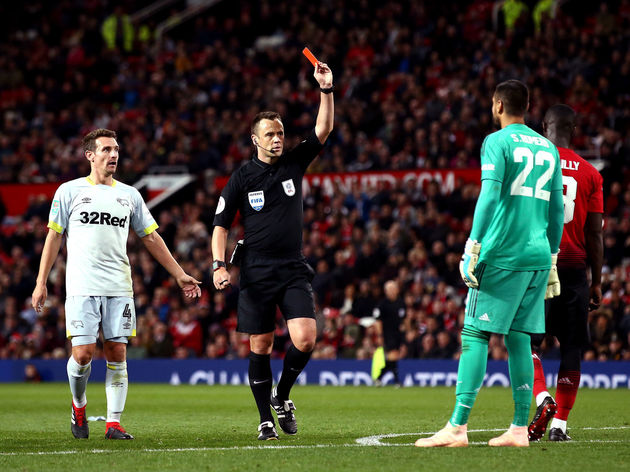 Manchester United v Derby County - Carabao Cup Third Round