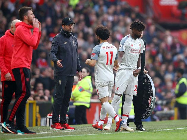 Divock Origi,Mohamed Salah,Jurgen Klopp