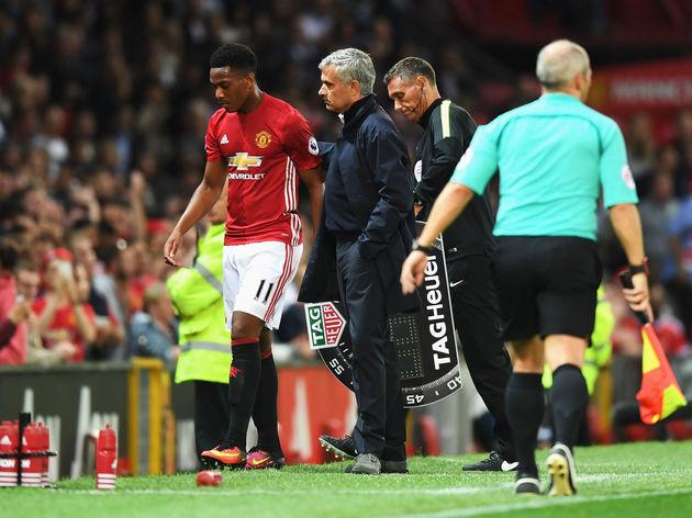Anthony Martial,Jose Mourinho