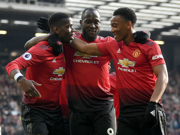 Paul Pogba,Anthony Martial,Romelu Lukaku