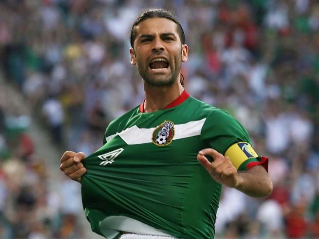 Mexican defender Rafael Marquez celebrat