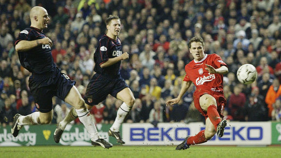 Michael Owen scores the second goal