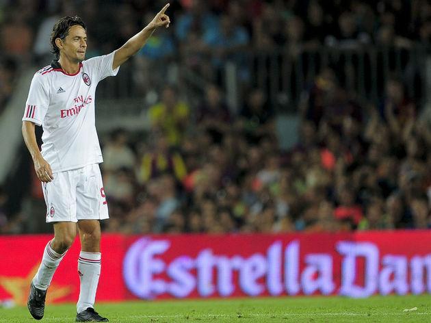 Milan«s Italian forward Filippo Inzaghi