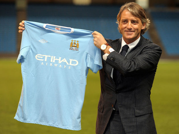 New Manchester City manager Roberto Manc