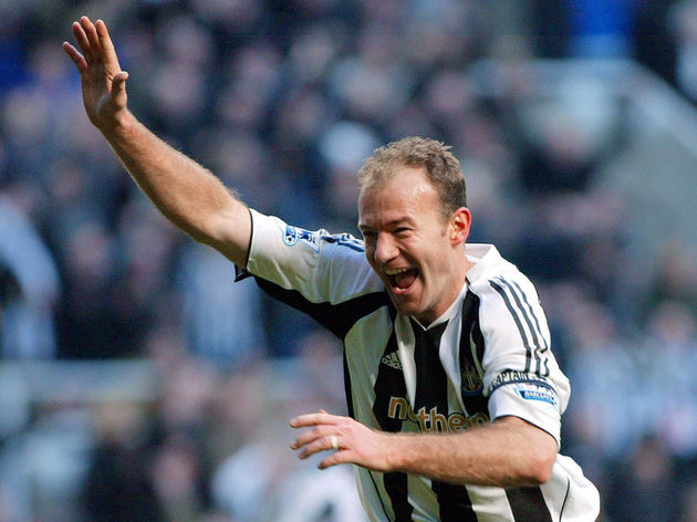 Newcastle United's Alan Shearer celebrat