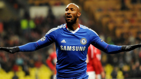 Nicolas Anelka of Chelsea celebrates his