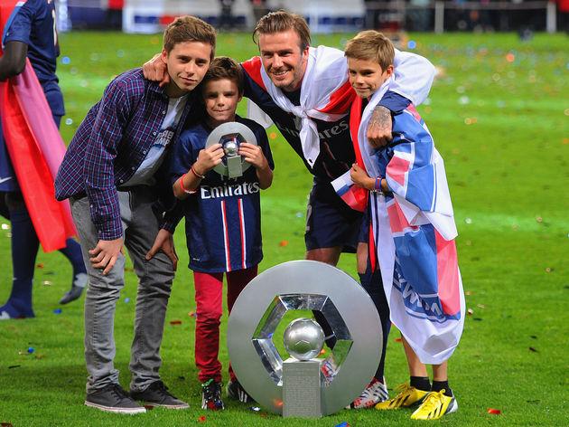 Romeo Beckham,Cruz Beckham,Brooklyn Beckham,David Beckham