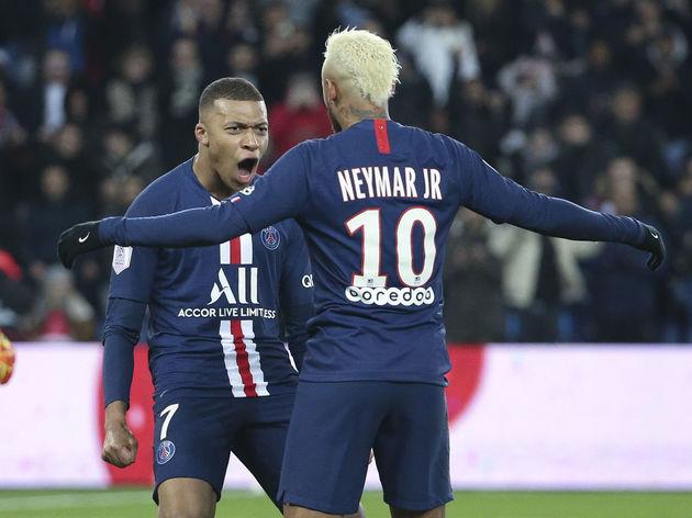 Neymar Jr,Kylian Mbappe