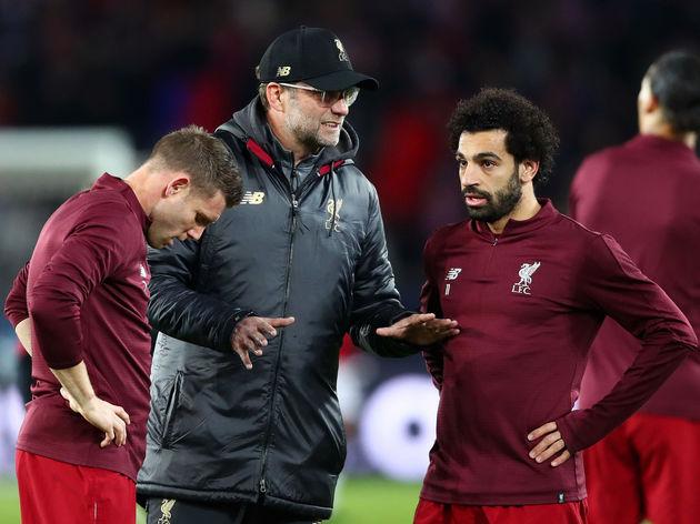 Jurgen Klopp,James Milner,Mohamed Salah