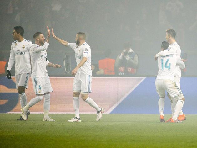 Raphael Varane,Sergio Ramos,Karim Benzema,Cristiano Ronaldo,Carlos Casemiro