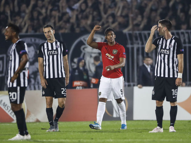 Partizan Belgrade v Manchester United: Group L - UEFA Europa League