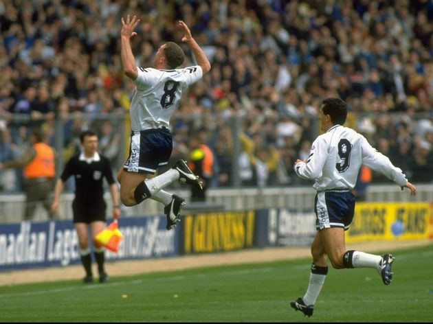 Paul Gascoigne of Tottenham Hotspur
