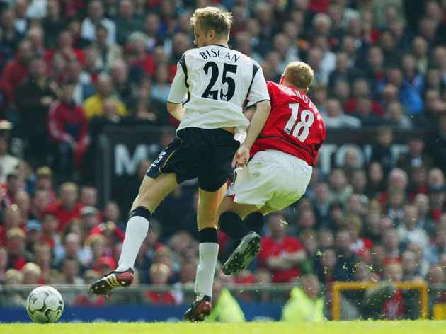 Paul Scholes and Igor Biscan