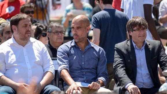 Pep Guardiola,Oriol Junqueras,Carles Puigdemont