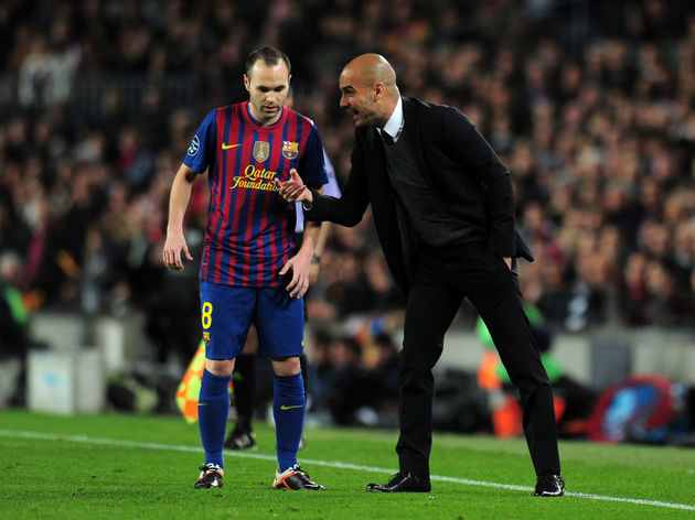 Pep Guardiola Coached Andrés Iniesta for Four Seasons at Barcelona