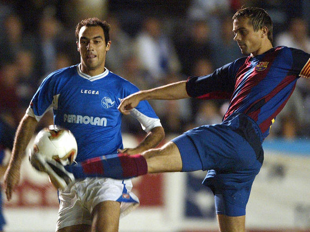 FC Barcelona's Dutch player Philipe Cocu