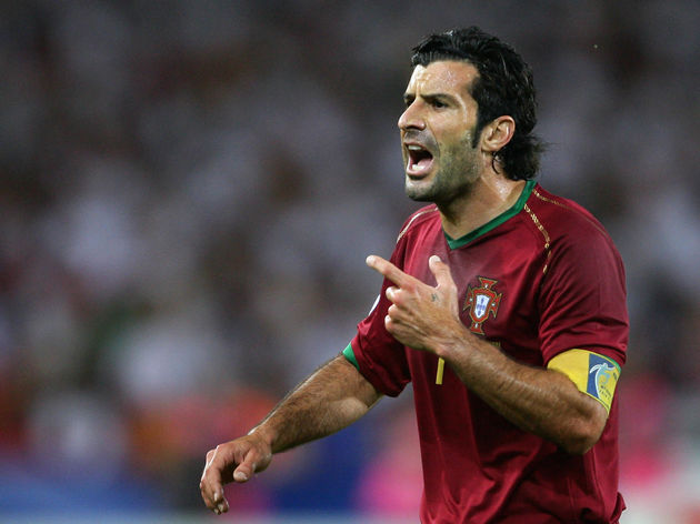 Portuguese forward Luis Figo is seen dur