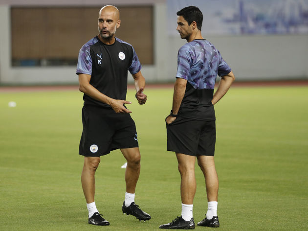 Pep Guardiola,Mikel Arteta