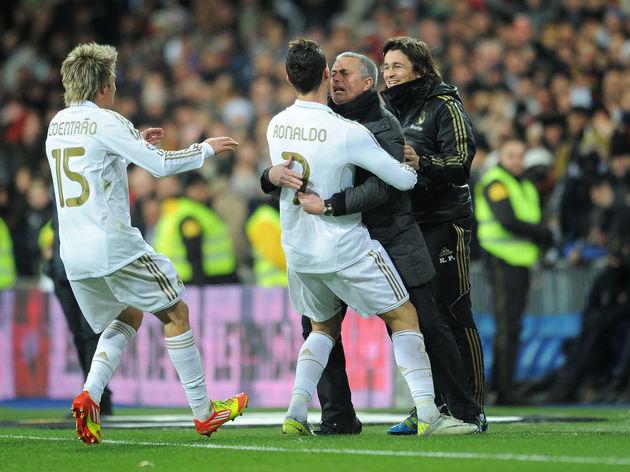 Cristiano Ronaldo,Fabio Coentrao,Jose Mourinho