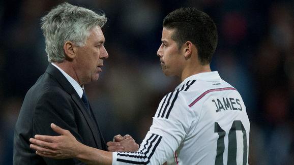 Carlo Ancelotti,James Rodriguez