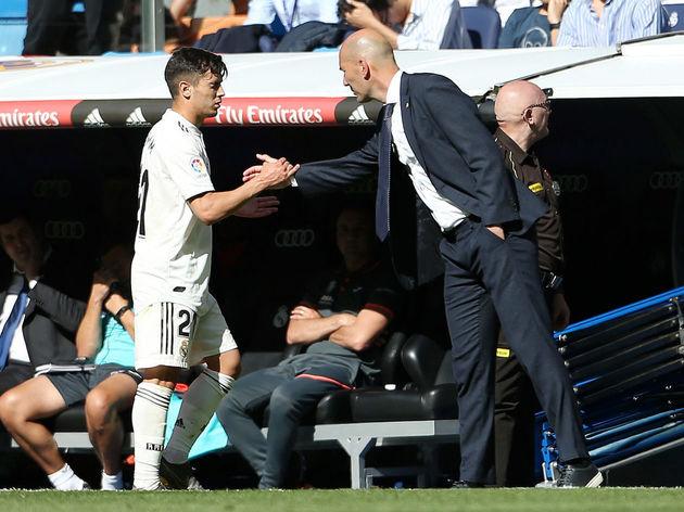 Zinedine Zidane,Brahim Diaz