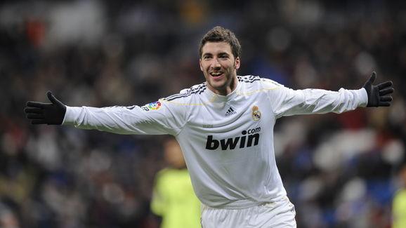Real Madrid's Argentinian forward Gonzal