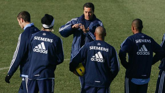 Real Madrid's Brazilian coach Wanderley