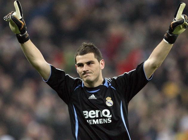 Real Madrid's goalkeeper Iker Casillas c...