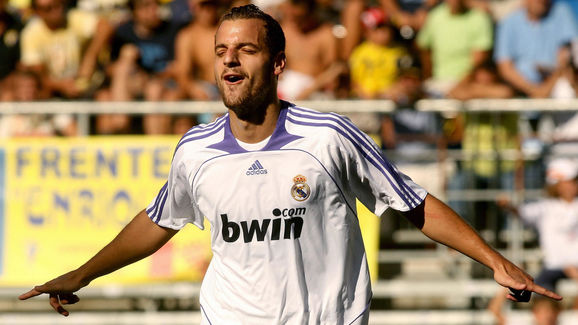 Real Madrid?s Roberto Soldado celebrates