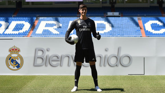 Real Madrid Unveil New Signing Thibaut Courtois