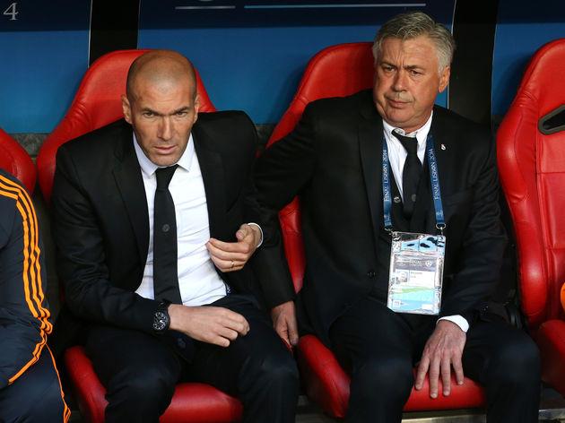 Zinedine Zidane,Carlo Ancelotti