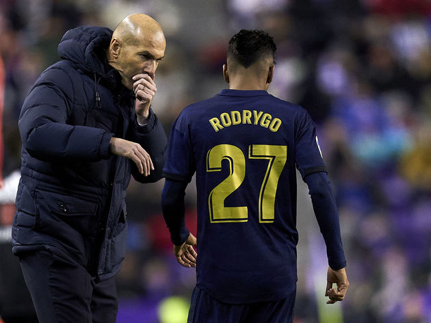 Zinedine Zidane, Manager of Real Madrid,Rodrygo Goes