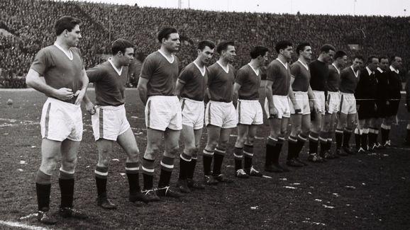Duncan Edwards,Bobby Charlton,Bill Foulkes,Harry Gregg