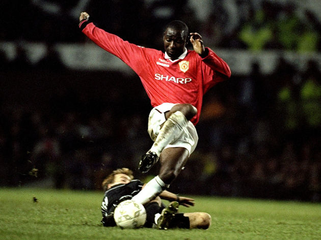 Roman Mahlich and Andy Cole