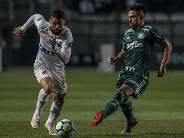 Santos v Palmeiras - Brasileirao Series A 2018
