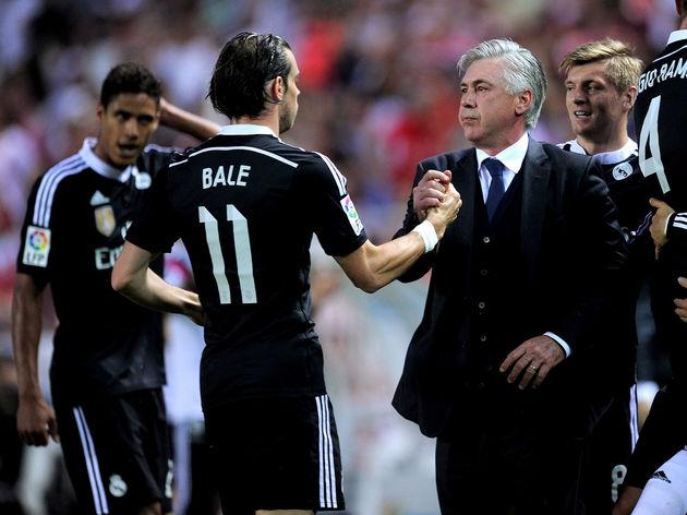 Cristiano Ronaldo,Carlo Ancelotti,Gareth Bale