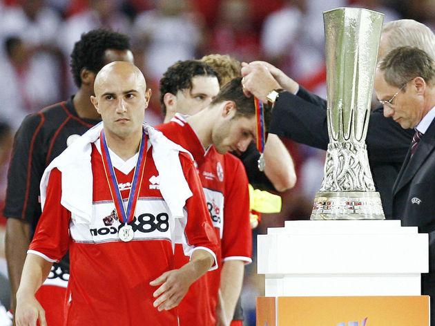 Sevilla's Spanish midfielder Jose Luis M