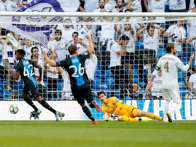 SOCCER CL GROUP STAGE A REAL MADRID VS CLUB BRUGGE