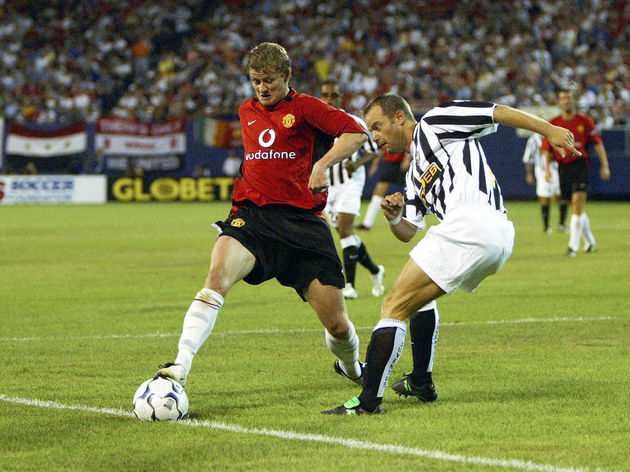 Solskjaer in action