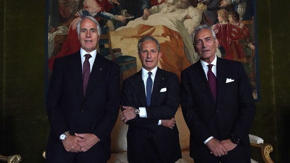 Giovanni Malago,Gaetano Miccichè,Gabriele Gravina
