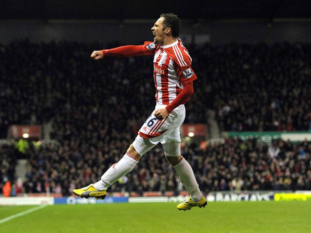 Stoke City's English midfielder Matthew