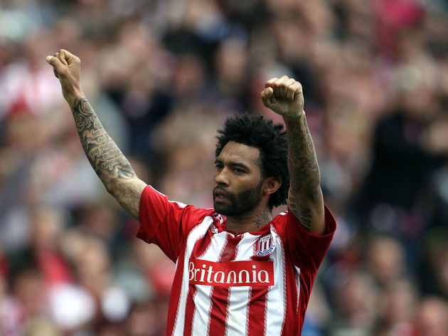 Stoke City's Jermaine Pennant celebrates