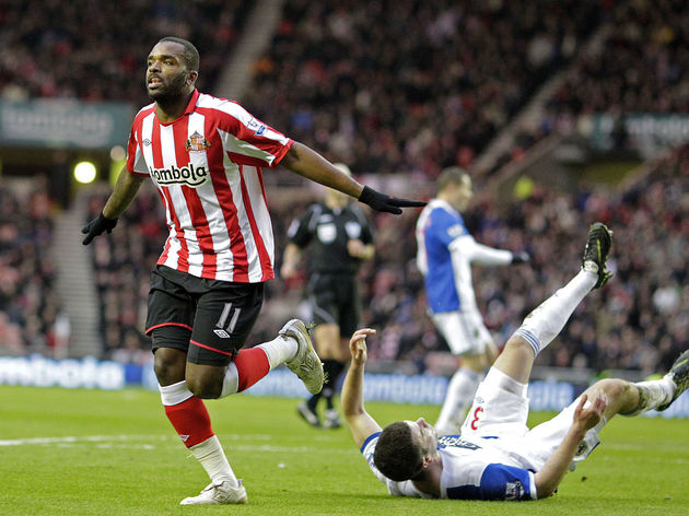Sunderland's English striker Darren Bent