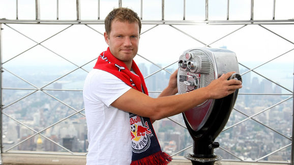 Teemu Tainio Of The New York Red Bulls Visits The Empire State Building