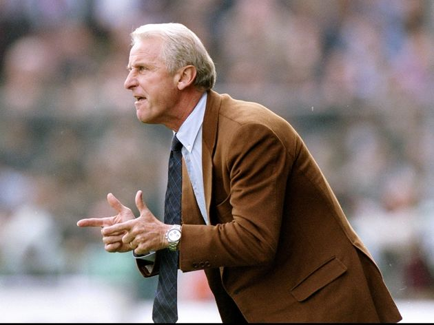 The Fiorentina manager Giovanni Trapattoni...